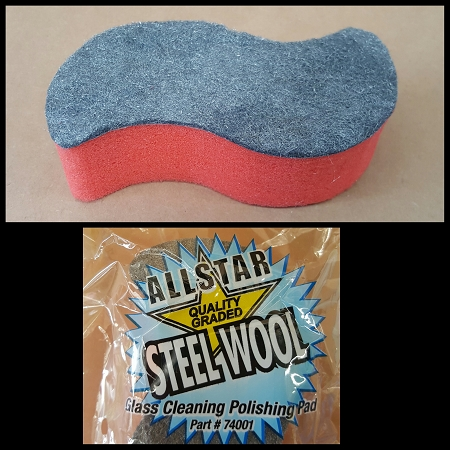 Steel Wool Glass Cleaning Polishing Pad